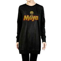 BestNA Womens Maya Cute Bee Long Sleeve Crewneck Sweater Dress Black Size M * See this great product. (This is an affiliate link) #ExerciseandFitnessWomensClothing