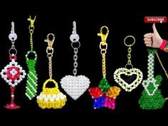 YouTube Beading Tutorials, Beading Patterns, Paper Bag Crafts, Crystal Beads, Crystals, Beaded Angels, Beaded Crafts, Earring Tutorial, Key Fobs