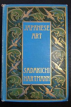 """Illustrated cover of vintage book """"Japanese art"""" #book #illustrated"""