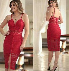 vestidos rojos audazces y simples - Ideas Bonitas Para Sexy Dresses, Casual Dresses, Short Dresses, Prom Dresses, Formal Dresses, Date Outfits, Fashion Outfits, Womens Fashion, Red Fashion