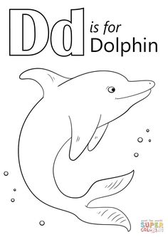 Letter D Is For Dolphin Coloring Page From Category Select 26388 Printable Crafts Of Cartoons Nature Animals Bible And Many More