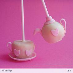 tea set cake pops