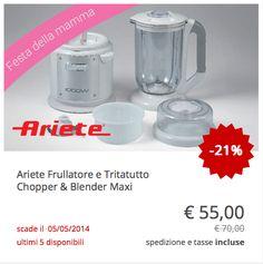 #Ariete Frullatore e Tritatutto Chopper & Blender Maxi