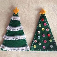 9 ideas para tu mini árbol de Navidad - Mercería La Costura Diy, Drop Earrings, Christmas Ornaments, Holiday Decor, Ideas, Home Decor, Vestidos, Mini Christmas Tree, Christmas Balls