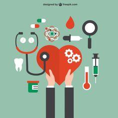 Saúde e cuidados médicos conceito Vetor grátis