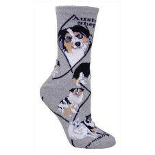 Australian Shepherd Socks UK Size 7 to 10 http://www.abentleycushions.co.uk/detail.asp?pID=7789