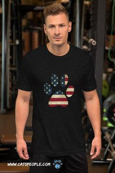 American flag inside a cat paw! the purrfect design for american cat owners and cat lovers for the 4th of july! This star spangled cat paw design is great for independence day if you're a cat mom or a cat dad. A simple and unique design for patriotic cat parents who love America and their cats! #catmomtshirt #catladytshirt #catmomfashion #4thofjuly #july4th #independenceday #catlovertshirt #tshirt #catdadtshirt #americancatmom #americancatlover