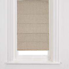 john lewis - putty roman blinds