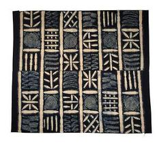 ADIRE FABRIC | Adire cloth wrapper, Yoruba peoples (Nigeria)
