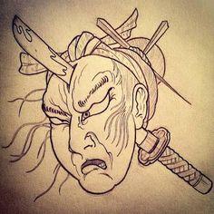 namakubi tattoo - Google Search Japanese Forearm Tattoo, D Tattoo, Drawing Sketches, Drawings, Koi, Japan Tattoo, Oriental Tattoo, Irezumi Tattoos, Best Tattoo Designs