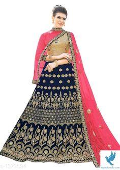 - MYiNDiAMAKE Designer Bridal Lehenga, Bridal Lehenga Choli, Choli Designs, Lehenga Designs, Blue Fabric, Silk Sarees, Party Wear, Women Wear, Velvet