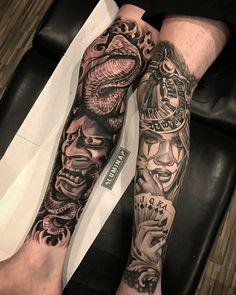 Half Sleeve Tattoos Forearm, Chicano Tattoos Sleeve, Full Leg Tattoos, Back Tattoos For Guys, Leg Sleeve Tattoo, Leg Tattoo Men, Best Sleeve Tattoos, Body Art Tattoos, Hand Tattoos
