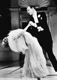 Ginger Rogers and Fred Astaire in Top Hat (1935)  Dancing to the song Cheek to Cheek