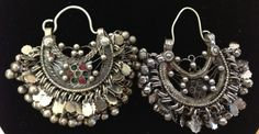 Central Asia Kuchi Silver Tribal Earrings by WorldofBacara on Etsy $80.00