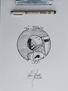 Skull Astronaut Illustration