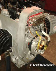 FlatRacer BMW R2v uprated 450W alternator kit incl superior diode board. www.flatracer.com