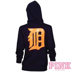 Detroit Tigers Victoria's Secret PINK® Bling Wide Neck Perfect Full Zip Hood. $69.99