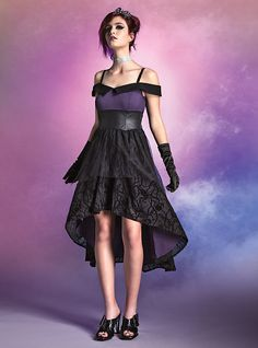 Disney Villains Black & Purple Gown, PURPLE