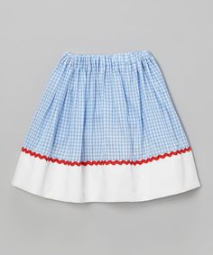 Look what I found on #zulily! Blue & White Plaid Circle Skirt - Infant, Toddler & Girls by Heavenly Things for Angels on Earth #zulilyfinds
