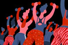 Esther Aarts Illustration Your 2015 horoscope: You'll try a new gym class. You'll find yourself pumping weights to the sound of 'Anaconda'. Lose Tummy Fat, Christmas Cover, Gym Classes, Finding Yourself, Make It Yourself, How To Gain Confidence, Words Of Comfort, Going To The Gym, You Fitness
