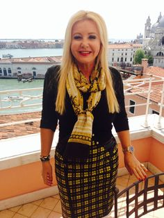 Lady Monika Bacardi in Venice for ZDF TV
