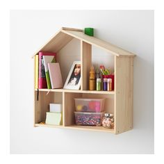 FLISAT Doll house/wall shelf IKEA This doll's house lets your child make a home for their dolls and play with them.