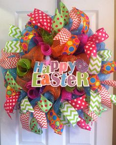 Measures approximately 24 in diameter. Easter centerpiece can be removed and replaced with an initial or other centerpiece so you can use this