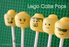 Lego cake pops - Living locurto   awesome tutorial for cake pops or marshmallow pops