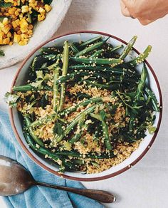 Week 3 - Quinoa and Green Bean Salad Recipe. Parsley spruces up this side salad of protein-rich quinoa and crunchy green beans. Bean Salad Recipes, Green Bean Recipes, Green Bean Salads, Green Beans, Black Beans, Paleo, Vegetarian Recipes, Cooking Recipes, Healthy Recipes
