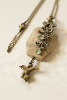 Natural Fossil Coral Patina charm 20antique by HavenHummingbird, $35.00