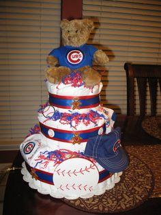 Chicago Cubs diaper cake diaper-cakes