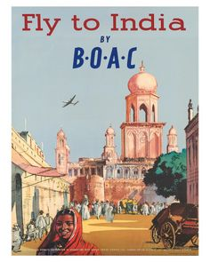 India by BOAC c.1955 Giclee Print - at AllPosters.com.au