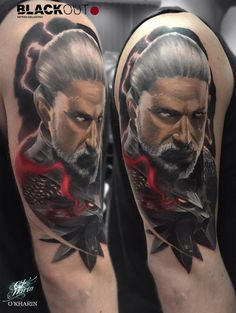 30 geralt tattoo designs for men - witcher ink ideas Top Tattoos, Badass Tattoos, Sleeve Tattoos, Blackout Tattoo, Free Tattoo Designs, Design Tattoos, Wolf, Cool Tattoos For Guys, The Witcher