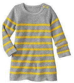 Baby Gap Girl Striped Sweater Dress 5T N1071   eBay