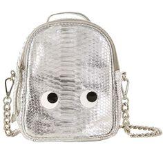 Sac à dos en cuir Kandee, cliquez sur l image pour shopper  bazarchic  sac   dos  bag  headpack  argent  silver  argenté  oeil  yeux  cute  fashion   mode   ... ddccec6f738