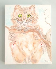 Cheshire Cat - Alice in Wonderland Original painting via Etsy