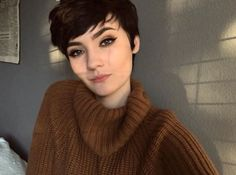 Haircut For Older Women, Older Women Hairstyles, Pixie Hairstyles, Pretty Hairstyles, Pixie Haircuts, Girl Short Hair, Short Hair Cuts, Short Hair Styles, Pixie Styles