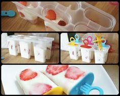 IJslollies gemaakt van yoghurt en fruit. Simpel, puur, lekker, gezond > The Bootcamp Club! Dit heb je nodig: ijslolly-houder, yoghurt, fruit naar keuze en honing. Enjoy!
