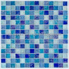 Mineral Tiles - Iridescent Glass Mosaic Tile Cobalt Blend 1x1, $14.95 (http://www.mineraltiles.com/iridescent-glass-mosaic-tile-cobalt-blend-1x1/)