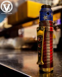 Stars & Stripes Forever!! Immortal Modz put their signature touch on this USA Cerakoted Grip 20700 Mech Kit and we absolutely love it!Grab one at EVCigarettes.com today and be ready ahead of time to wield it proudly on the 4th of July!