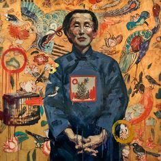 Hung Liu - Contemporary Artist - Figurative Painting- Auntie