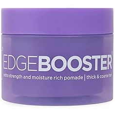 Style Factor Edge Booster Extra Strength Moisture Rich Pomade | Thick Coarse Hair (Pink Beryl)
