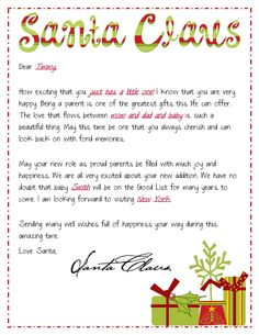 so fun personal message from santa about what you want for xmas