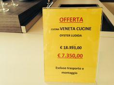PROMOZIONE ESTATE 2014 Presso il nostro punto vendita Veneta Cucine San Donato Mil.se Cucina Oyster lucida € 7.350,00 anzichè € 18.393,00 T. 02 37050321 - Email: venetacucine@artabita.it  http://venetacucine.artabita.it https://www.facebook.com/venetasandonato