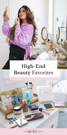 I'm just sharing some holy grail products that are trusty & worth the money! These are my high-end beauty must-haves. Under eye products, countour, powder products and more skincare favorites | The Sweetest Thing by Emily Ann Gemma | Makeup & Beauty Beauty Tips For Skin, Best Beauty Tips, Beauty Hacks, Makeup Must Haves, Beauty Must Haves, Eye Products, Beauty Products, Tom Ford Bronzer, Best Bronzer