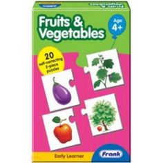 Fruits N Vegetables Picture Jigsaw Puzzle:A fun-filled puzzle to develop the general awareness of children regarding the common fruits and vegetables.