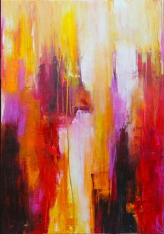 Original art by Erin Ashley... gorgeous colors chosen in an abstract painting style