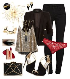 """Capodanno"" by keila-87 on Polyvore featuring moda, J Brand, River Island, Jimmy Choo, John Lewis, Yves Saint Laurent e Chanel"
