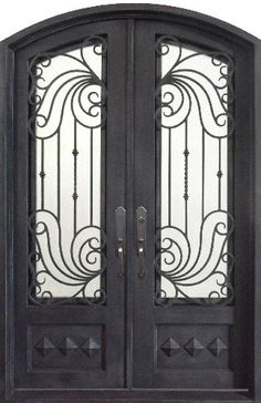 silver pewter iron front door with wrought iron grille hand forged and hand finished