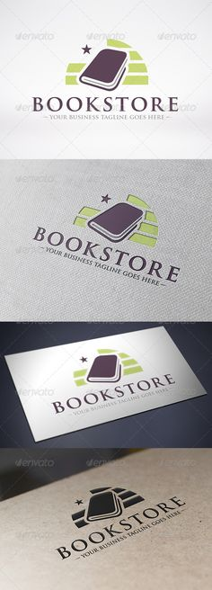 Book Store  - Logo Design Template Vector #logotype Download it here: http://graphicriver.net/item/book-store-logo-template/6268319?s_rank=870?ref=nexion